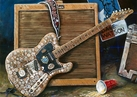 Dale Watson's Coin Guitar autographed fine art print signed by Dale Watson