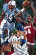 Houston 34's framed fine art print signed by Earl Campbell, Hakeem Olajuwon and Nolan Ryan