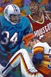 Houston 34's Redux fine art print featuring Earl Campbell, Hakeem Olajuwon and Nolan Ryan
