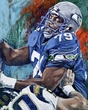 Jacob Green original painting featuring Jacob Green by Robert Hurst signed by Green
