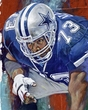 Larry Allen original painting featuring Larry Allen by Robert Hurst signed by Allen