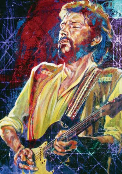 Solid gold eric clapton painting for Eric mural painter