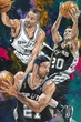 Spurs Big Three: Tim Duncan, Manu Ginobili and Tony Parker fine art print