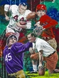 Texas Legends - College Football framed fine art print featuring Sammy Baugh, John David Crow, Darrell Royal and Doak Walker. Autographed