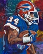 Thurman Thomas original painting by Robert Hurst signed by Thomas