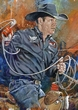 Trevor Brazile autographed limited edition fine art print signed by Brazile