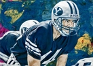 Ty Detmer autographed limited edition fine art print signed by Detmer