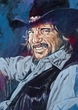 Waylon Jennings limited edition fine art print featuring Jennings