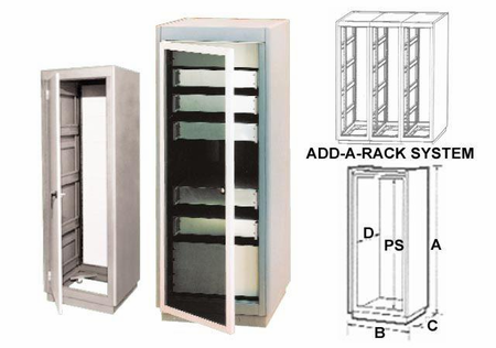 Bud Industries 30-2502-GT - Large Cabinet Racks-30 series-Racks-L51 X W22 X D31
