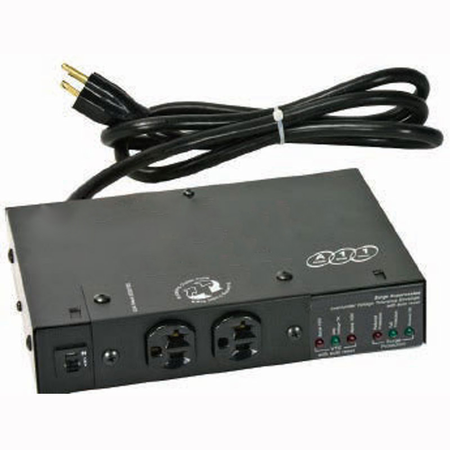 Lowell ACSP-2002-VTE Compact Surge Suppressor-20A 2 Outlets Over/Under Protection attached cord