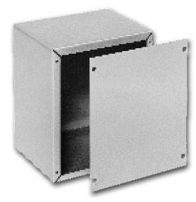Bud Industries AU-1040-MG - Small Metal Electronics Enclosures-AU series-Utility Cabinets Aluminum-L9 X W6 X D5