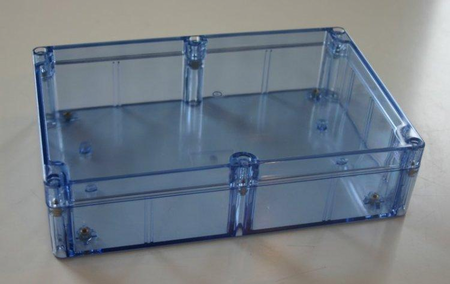 Bud Industries BT-2724 - NEMA 4X Enclosures-BT series-NEMA 4X Blue Transparent-L7 X W5 X D2