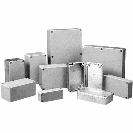 Bud Industries AN-1302-A - Die Cast Aluminum Enclosure-AN series-NEMA 4,6 ,IP68-L5 X W3 X D1
