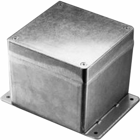 Bud Industries AN-2810-A - Die Cast Aluminum Enclosure-AN series-NEMA 4,6, IP68 Box with Mounting Bracket-L6 X W6 X D4