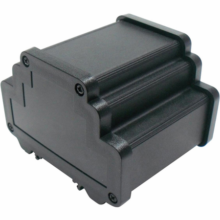 Bud Industries DMX-4776-B - Small Metal Electronics Enclosures-DMX series-DIN RAIL EXTRUDED ENCLOSURE-L4 X W1 X D1