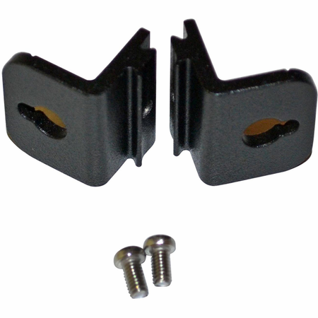Bud Industries EXN-23370-MBK - MOUNTING BRACKETS, SET OF 2