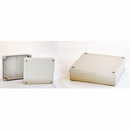 Bud Industries PIP-11774-C - NEMA 4X Enclosures-PIP series-NEMA 4X,6, IP67 with 10% Fiberglass-L7 X W7 X D5