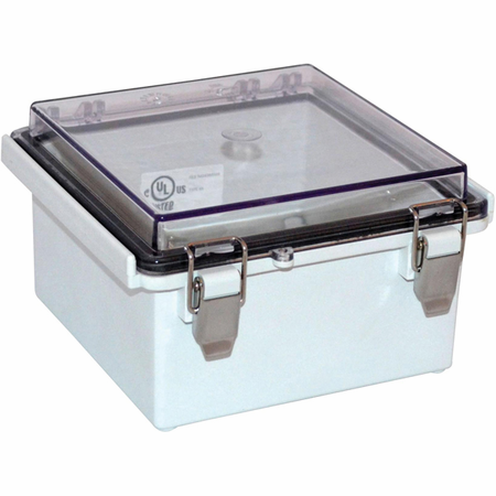 Bud Industries PTQ-11046-C - NEMA 4X Enclosures-PTQ series-NEMA 4X,6, IP67 with 10% fiberglass-L6 X W6 X D4