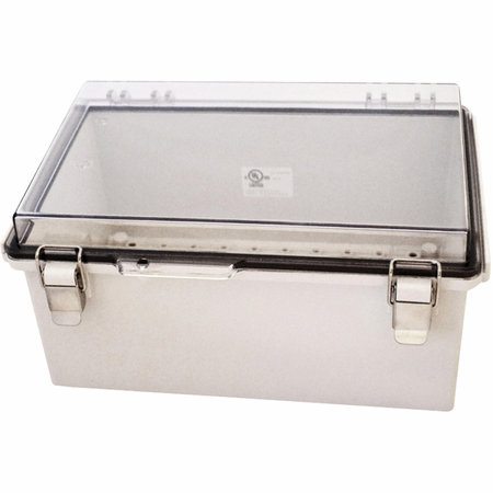 Bud Industries PTQ-11059-C - NEMA 4X Enclosures-PTQ series-NEMA 4X,6, IP67 with 10% fiberglass-L12 X W8 X D6