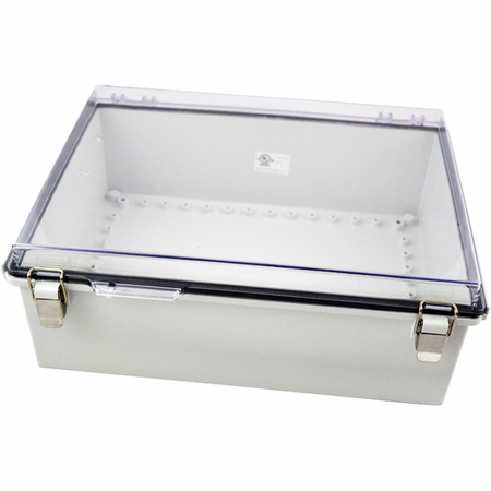 Bud Industries PTQ-11064-C - NEMA 4X Enclosures-PTQ series-NEMA 4X,6, IP67 with 10% fiberglass-L15 X W11 X D5