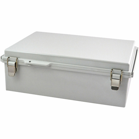 Bud Industries PTQ-11064 - NEMA 4X Enclosures-PTQ series-NEMA 4X,6, IP67 with 10% fiberglass-L15 X W11 X D5
