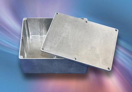 Bud Industries CN-6709 - Die Cast Aluminum Enclosure-CN series-Die Cast Aluminum with Mounting Brackets-L7 X W5 X D2