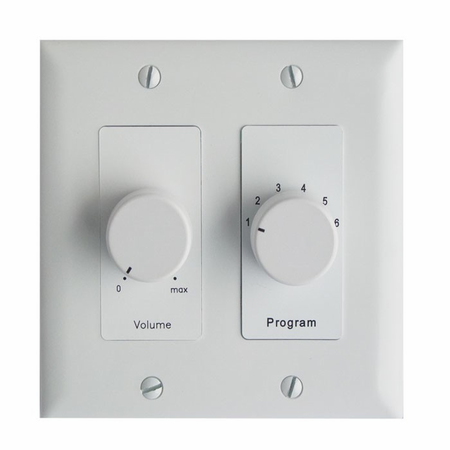 Lowell CS650-DW Attenuator/Program Select-50W 6-Source 2 and 1-Gang Decorator White
