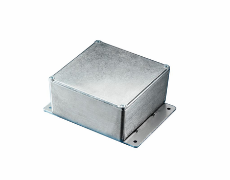 Bud Industries CU-4347-B - Die Cast Aluminum Enclosure-CU series-Econobox with Mounting Bracket-L7 X W3 X D5