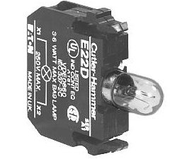 Eaton E22D - 22.5mm lamp block non-metal indicating light full voltage