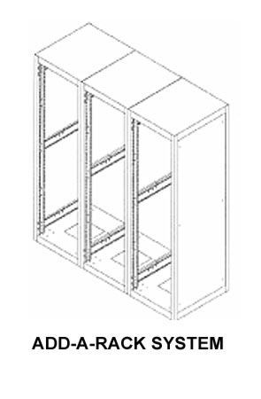Bud Industries ER-16662-BT - Large Cabinet Racks Accessories-ER series-Accessories Add-A-Rack System-L47 X W22 X D26