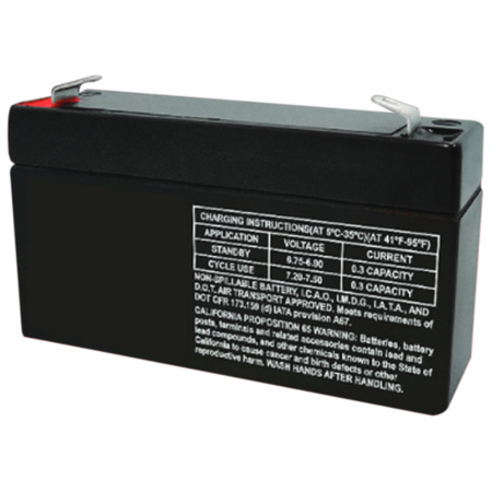 MK Battery ES1.2-6 - 6 Volts 1.2 Amp Hours/20 Hours