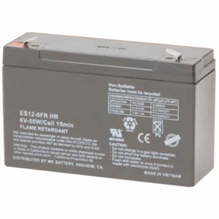 MK Battery ES12-6FR HR - 6 Volts 12 Amp Hours/20 Hours