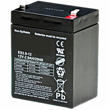 MK Battery ES2.9-12 - 12 Volts, 2.9 Amp Hours (20 Hours) Small Sealed Battery