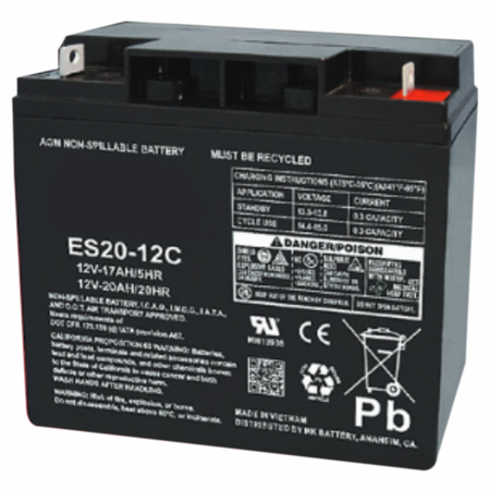 MK Battery ES20-12C (Cyclic) - 12 Volts, 20 Amp Hours (20 Hours) Small Sealed Battery