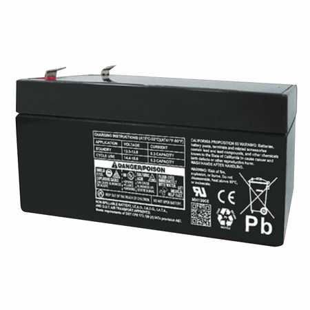 MK Battery ES3-12 - 12 Volts, 3 Amp Hours (20 Hours) Small Sealed Battery