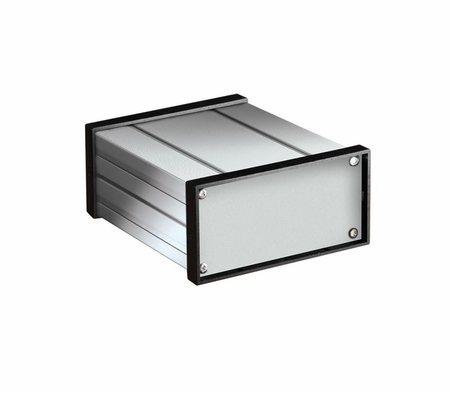 Bud Industries EX-4542 - Small Metal Electronics Enclosures-EX series-Extruded Aluminum Box-L4 X W4 D7 Extruded Alum Box, 630 Deep