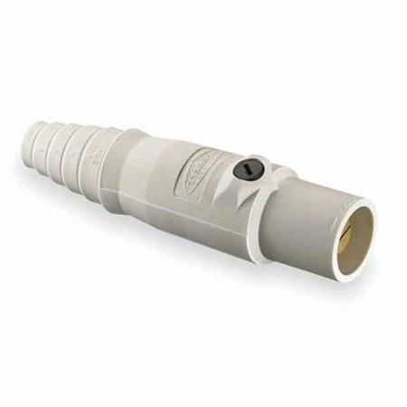 Hubbell HBL400MW - AC - Connector, 16 Series Cam-Type, inline, male, white