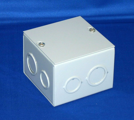 Bud Industries JB-3951 - Junction Box-JB series-NEMA 1 Sheet Metal Junction Box With Lift-off Screw Cover-L4 X W4 X D4