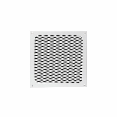 Lowell JG-8X Grille-8in Speaker Steel Screw Mount 12.375in Sq White