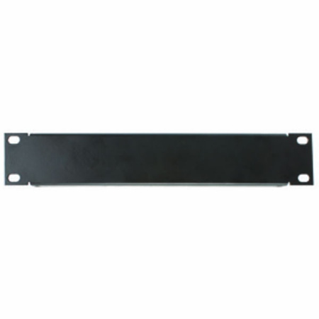 Lowell SEPH-1 Half Rack Panel 1U 18-gauge Flanged Steel Black