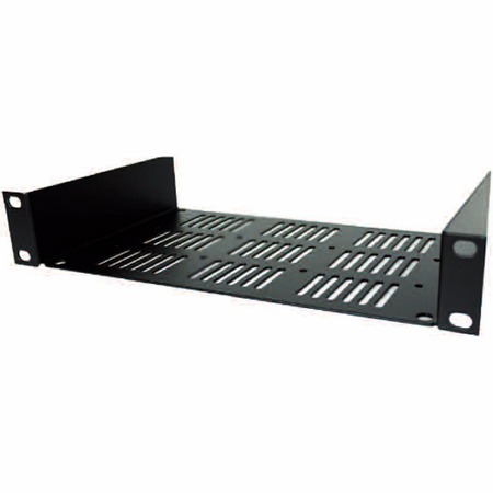Lowell UVSH-13 Half Rack Shelf 1U 3.5inD Black
