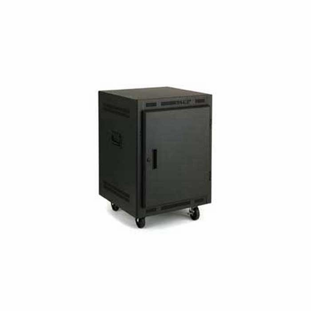 Lowell LPR-1422FV Rack-Portable-14U 22in Deep Fully Vented Door Black
