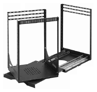 Lowell LPTR4-3019 Rack-Pull and Turn System-30U 4-Slides 19in Deep Black