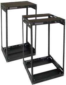 Lowell LVR14-1421 Rack-Variable Depth-14U Expands from 14in - 21in Deep Black