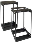 Lowell LVR44-1421 Rack-Variable Depth-44U Expands from 14in - 21in Deep Black