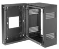 Lowell LWR-1623 Rack-Sectional Wall Mount-16U 23in Deep 1pr Adj Rails Black