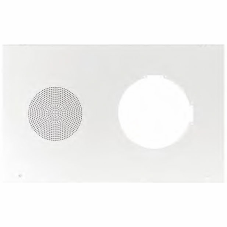 Lowell MC-301 Grille-Clock/Speaker Steel Recessed 27.25in L x 17in H White