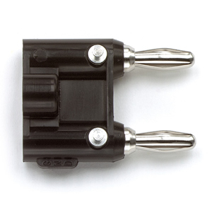 Whirlwind MDP-BK - Connector - Banana, plug, dual, inline, available in colors