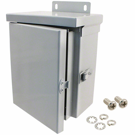 Bud Industries N3R-5803 - NEMA 3R Enclosures-N3R series-NEMA 3R Enclosures With Hinged Cover-L8 X W6 X D4