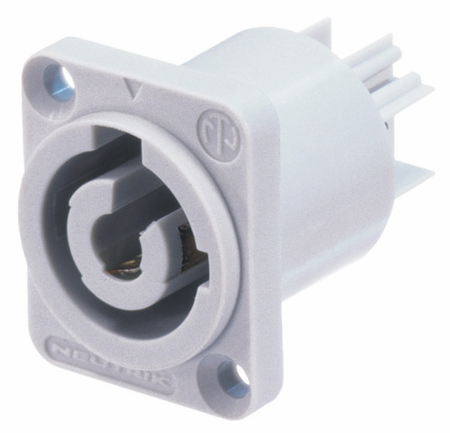 Whirlwind NAC3MPB - Connector - Powercon - Neutrik, power out, chassis, (gray)